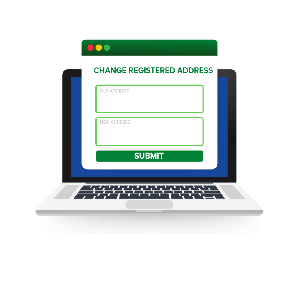 Change registered address of private limited company