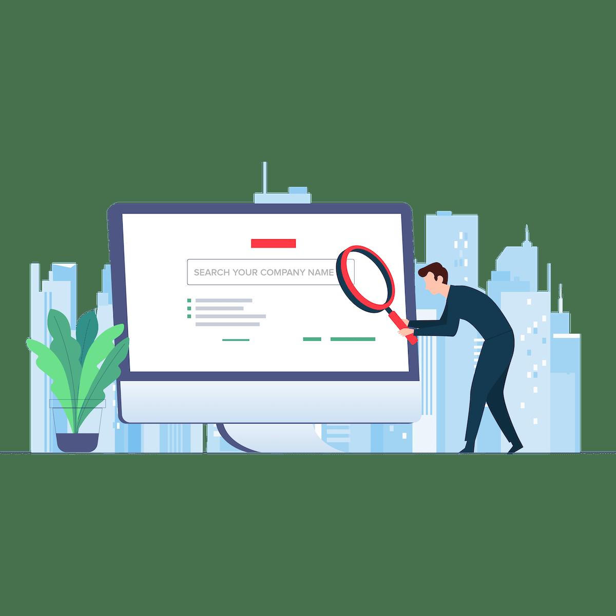 Company name search tool