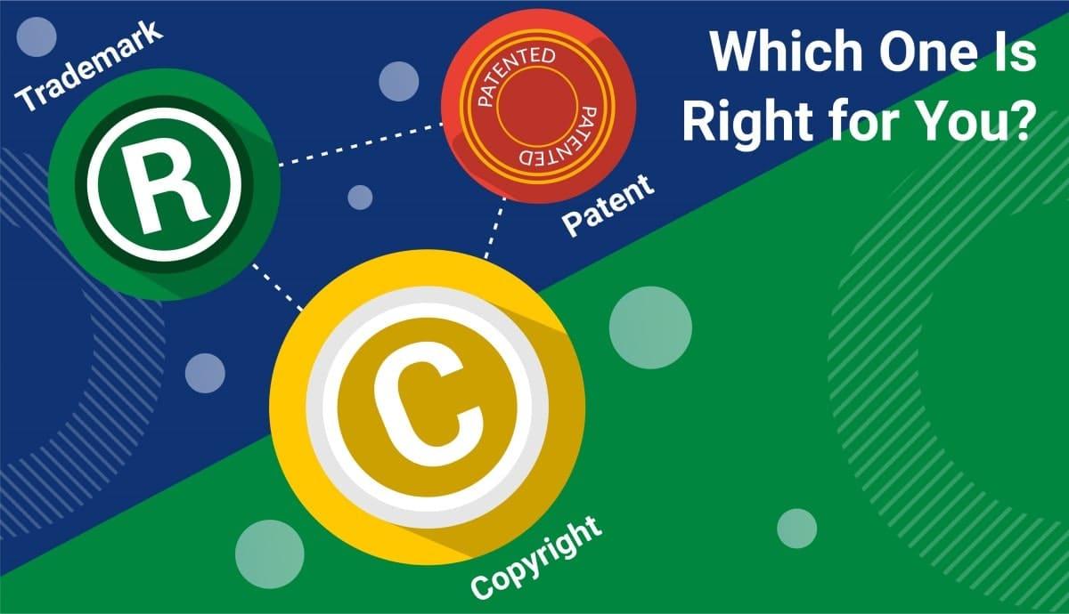 copyright vs patent vs trademark